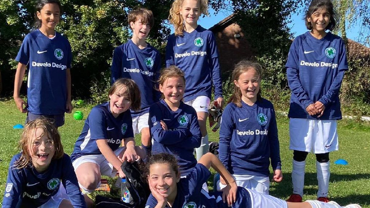 Develo Sponsor Bournville Girls Football team