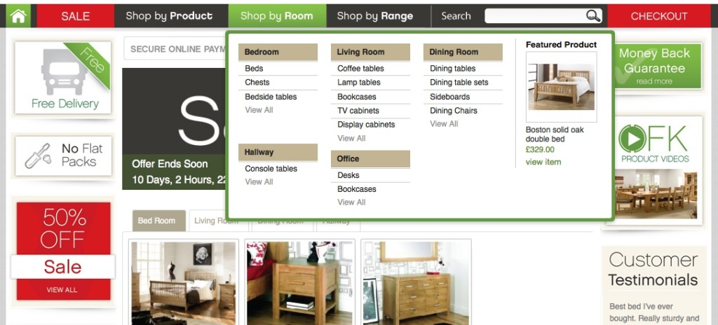 Showing Products in a Magento Mega Menu