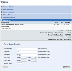 Final Payment screen in Magento checkout