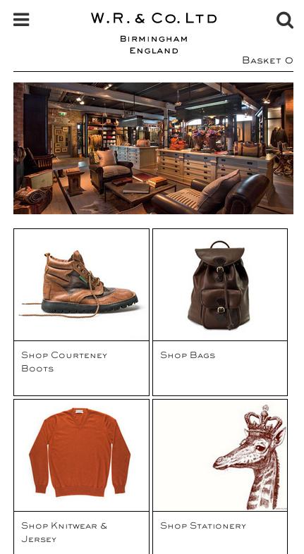 Responsive e-commerce store