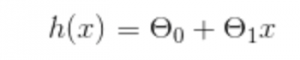 A simple machine learning hypothesis equation