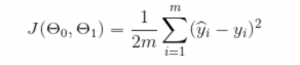 A cost function equation