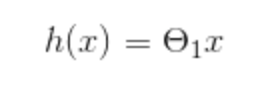 simple hypothesis function without a constant value