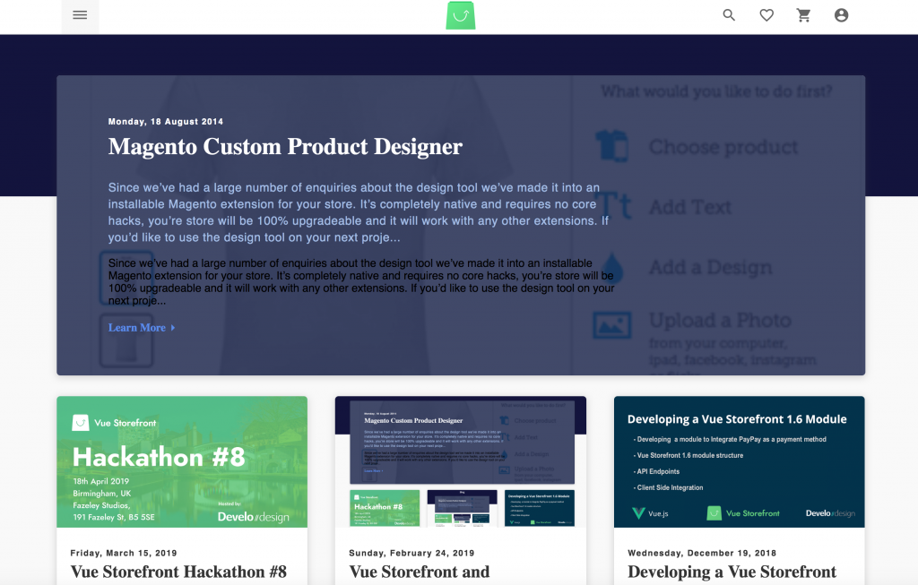 Vue Storefront and Wordpress integration module - Develo Design